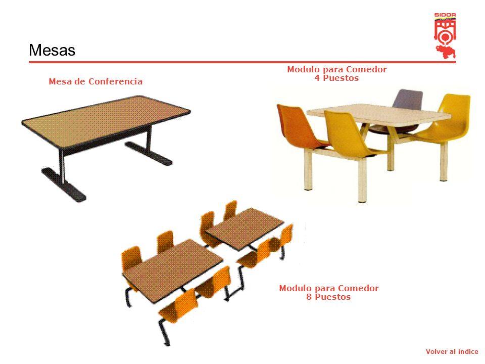 4 Mesas Mesa de Conferencia Modulo para Comedor 4 Puestos Modulo para Comedor 8 Puestos Volver al índice
