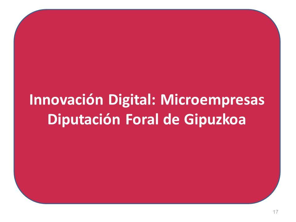 17 Innovación Digital: Microempresas Diputación Foral de Gipuzkoa