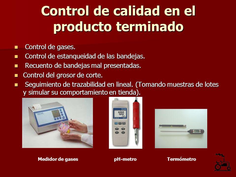 Control de gases. Control de gases. Control de estanqueidad de las bandejas. Control de estanqueidad de las bandejas. Recuento de bandejas mal present