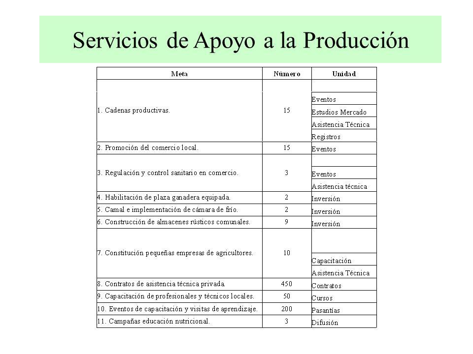 Servicios de Apoyo a la Producción