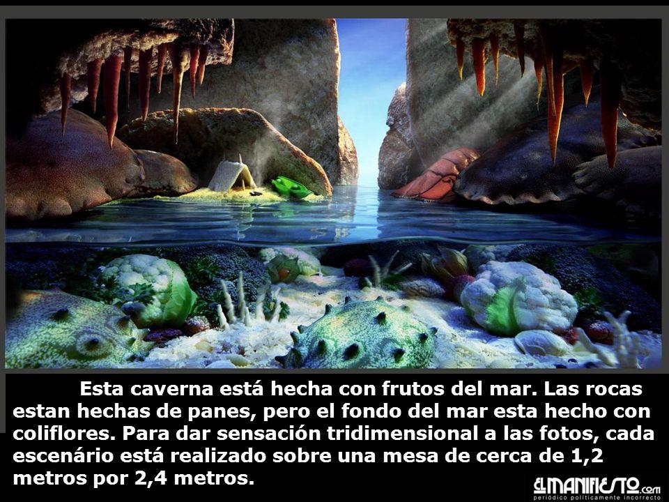 Esta caverna está hecha con frutos del mar.