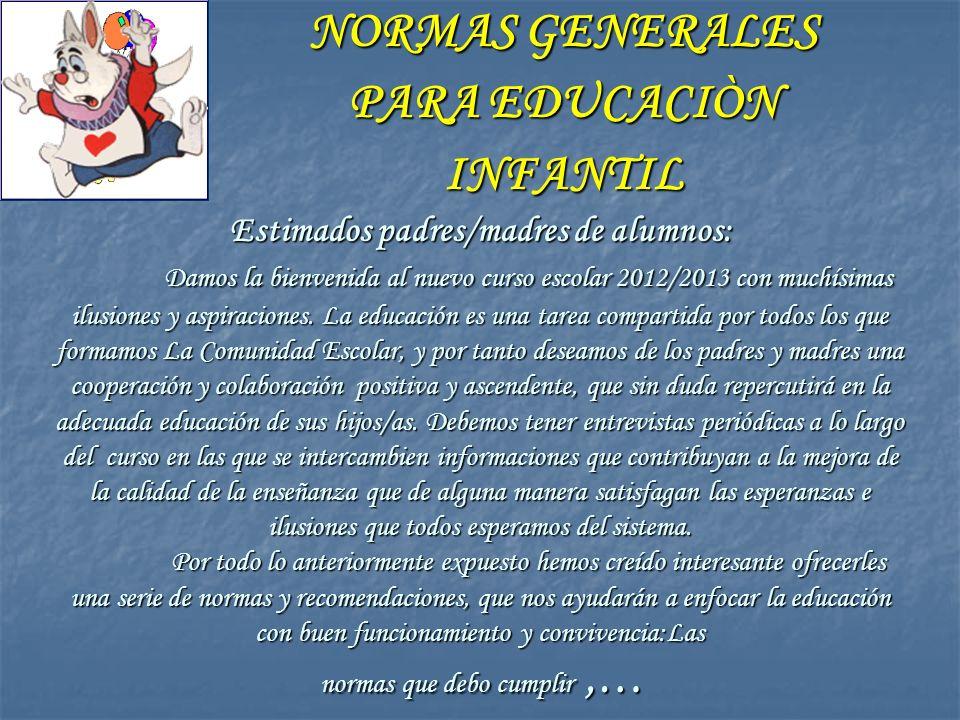 Estimados padres/madres de alumnos: Damos la bienvenida al nuevo curso escolar 2012/2013 con muchísimas ilusiones y aspiraciones. La educación es una