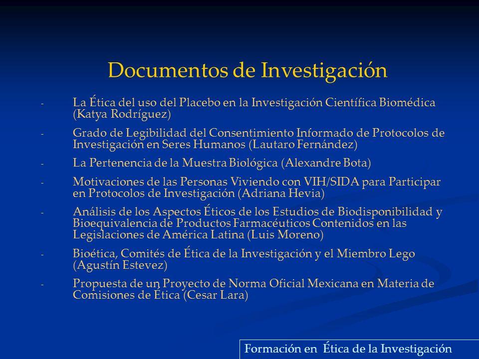 - La Ética del uso del Placebo en la Investigación Científica Biomédica (Katya Rodríguez) - Grado de Legibilidad del Consentimiento Informado de Proto