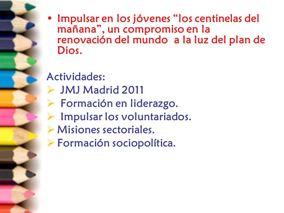 Participar activamente en la preparación y realización del III Congreso Latinoamericano de Pastoral Juvenil Actividades: Asamblea nacional.