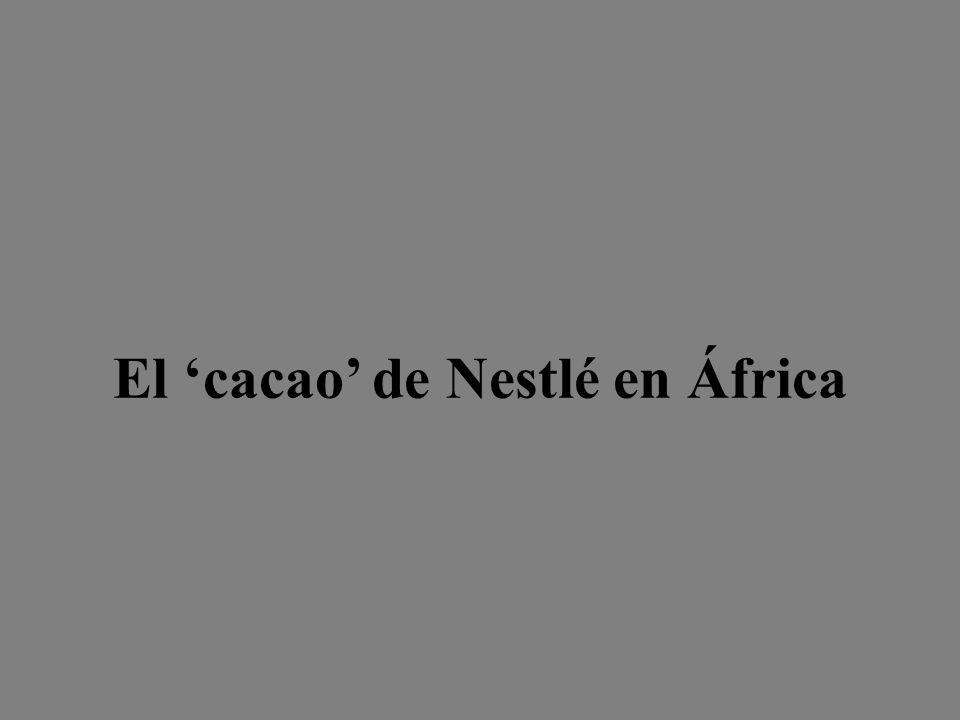 El cacao de Nestlé en África