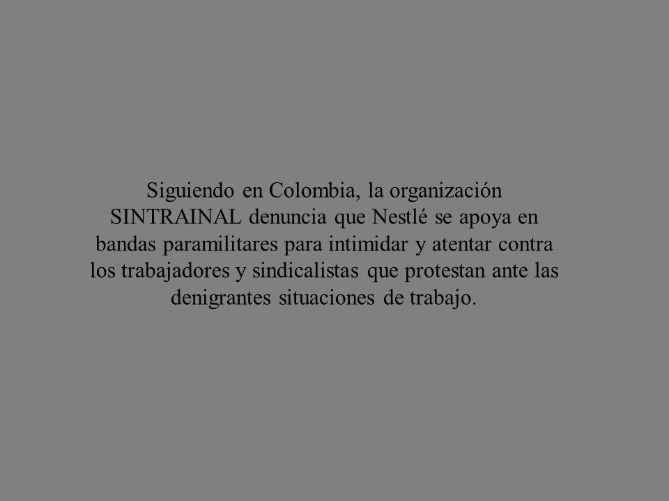 Dicha leche iba destinada a Venezuela. El senado venezolano se pronunció así al respecto: