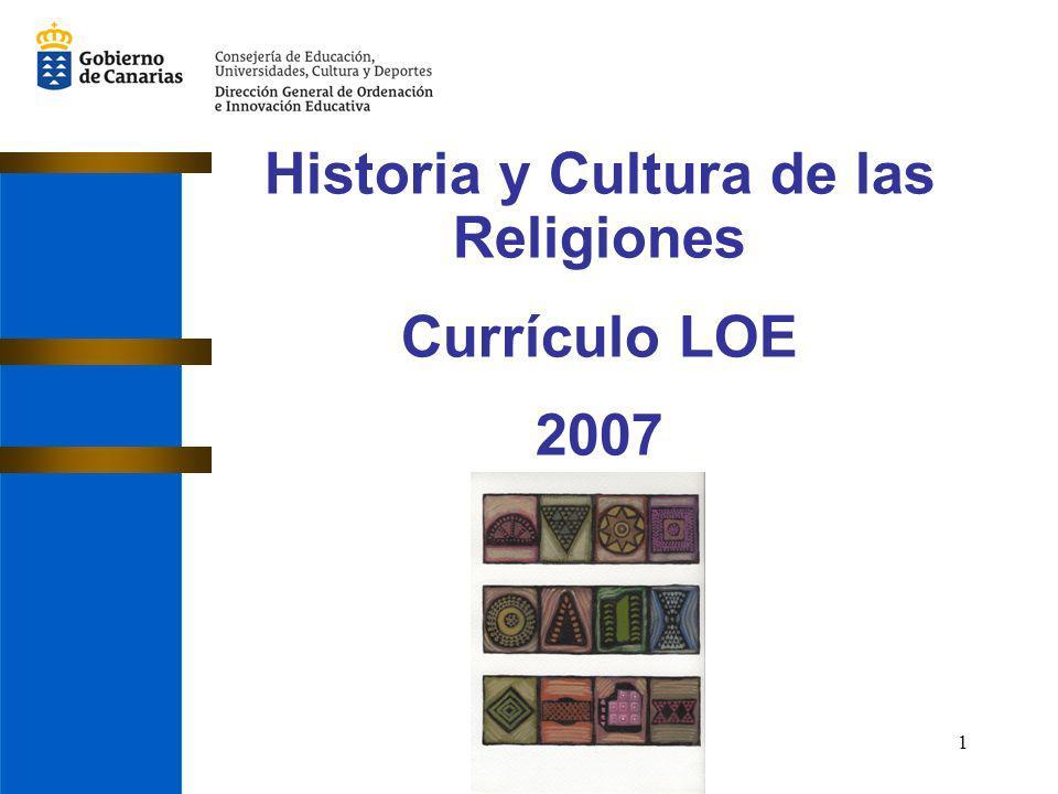 1 Historia y Cultura de las Religiones Currículo LOE 2007