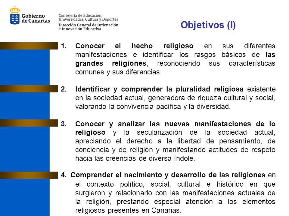 8 Objetivos (II) 5.