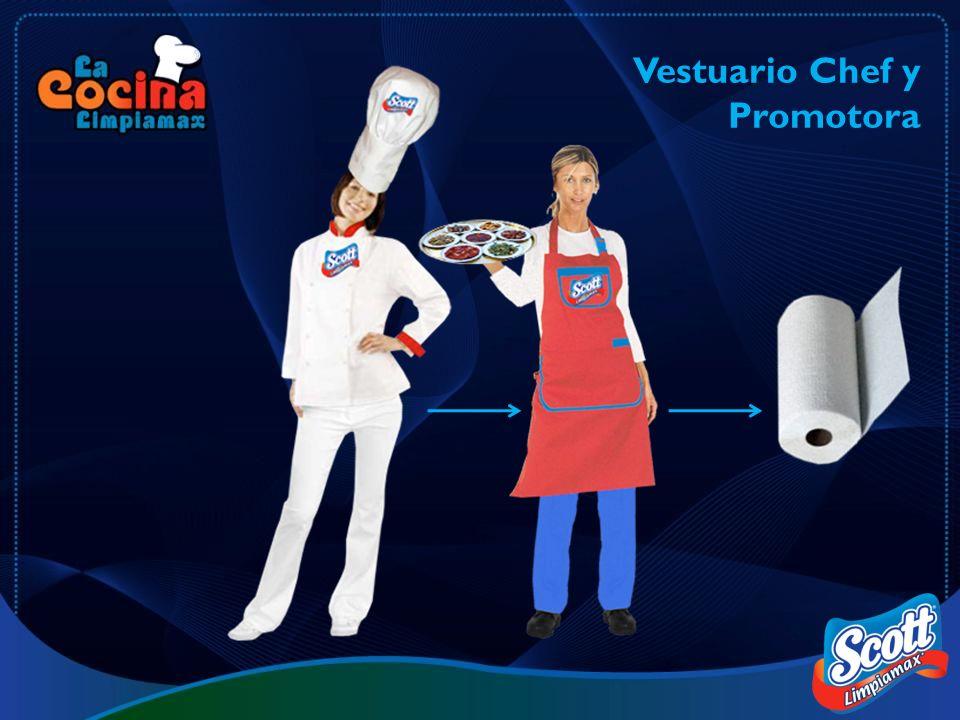 Vestuario Chef y Promotora
