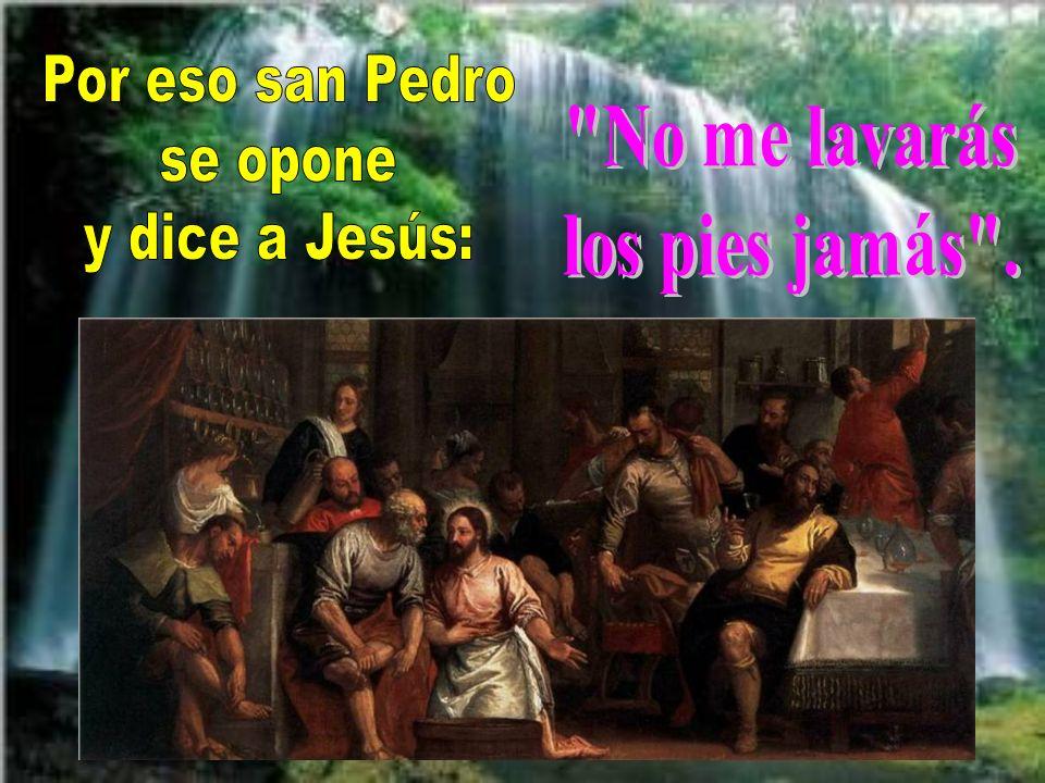 Los encargados de limpiarles eran los esclavos o servidores, que ciertamente allí no habría. Jesús ahora hace las veces de criado o esclavo. Es muy di