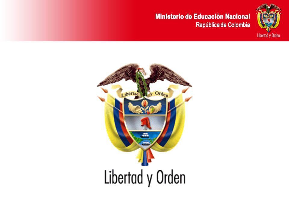 Ministerio de Educación Nacional República de Colombia CONFORMACIÓN CCAFT La Comisión de Calidad de la Formación para el Trabajo (CCAFT) esta conformada por: Ministerio de la Protección Social Ministerio de Educación Nacional Ministerio de Comercio, Industria y Turismo.