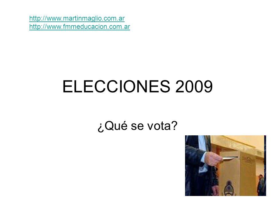 ELECCIONES 2009 ¿Qué se vota? http://www.martinmaglio.com.ar http://www.fmmeducacion.com.ar
