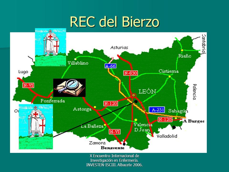 X Encuentro Internacional de Investigación en Enfermería. INVESTEN-ISCIII. Albacete 2006. REC del Bierzo