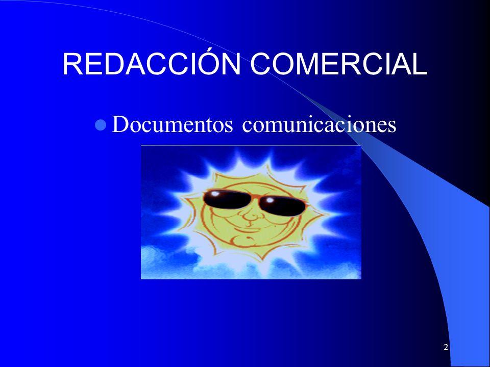 2 REDACCIÓN COMERCIAL Documentos comunicaciones