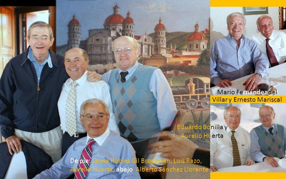 SENTADOS Izquierda a Derecha: Eduardo Bonilla, Luis Razo, Alberto Sánchez Palazuelos, Miguel Luna Parra. PARADOS: Guillermo Alducin, Adolfo Huerta, Er