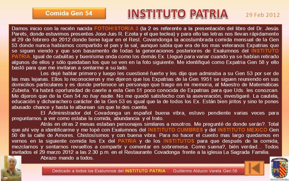 CALLATE Comida xxxcx Gen 57 Comida 29 Febr 2012 Gen 54 Comida Pedro Borda 2009 Gen 54 y Comida Anual Gen 55 Comida Pedro Borda 2009 Gen 54 y Comida An