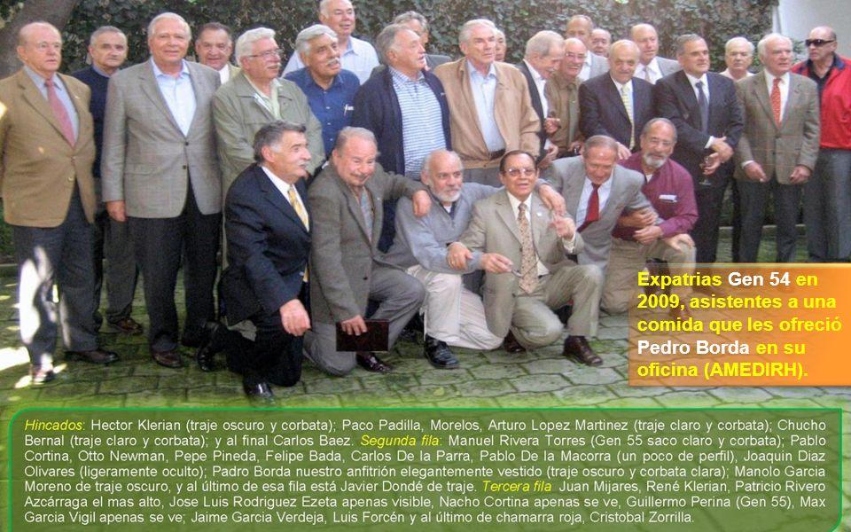 SENTADOS Izquierda a Derecha: Eduardo Bonilla, Luis Razo, Alberto Sánchez Palazuelos, Miguel Luna Parra.