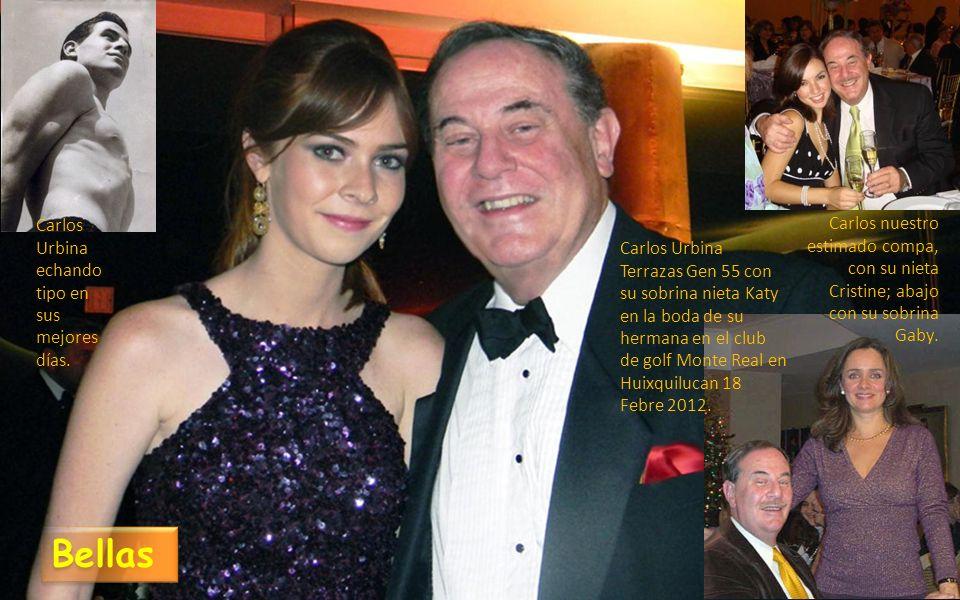 Carlos Urbina Terrazas Gen 55 con su sobrina nieta Katy en la boda de su hermana en el club de golf Monte Real en Huixquilucan 18 Febre 2012.