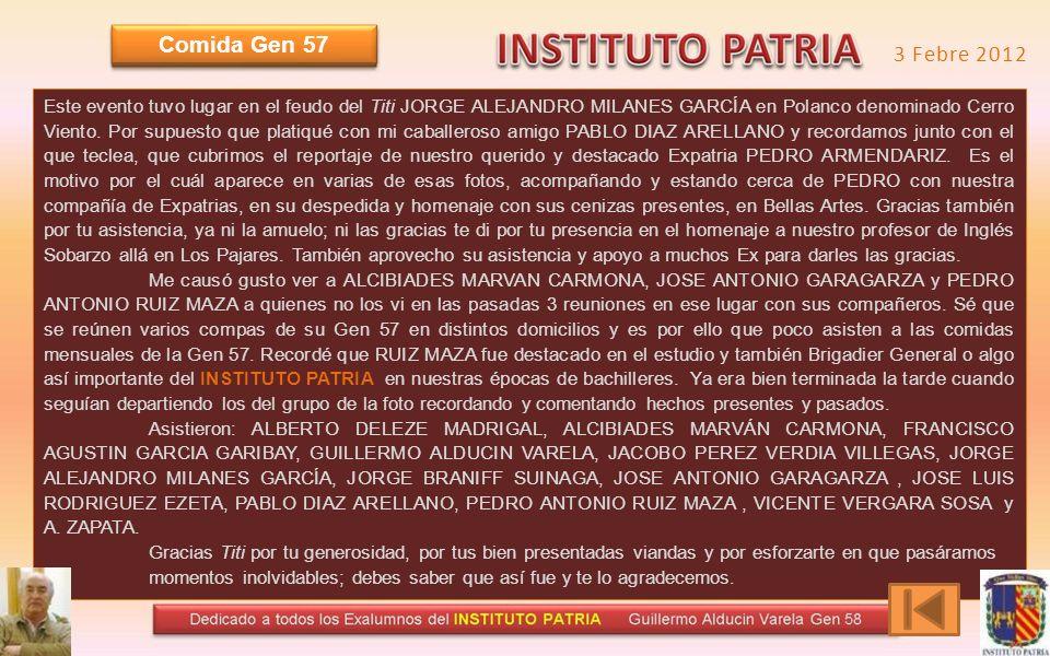 INSTITUTO PATRIA Cantando nuestro Himno del INSTITUTO PATRIA