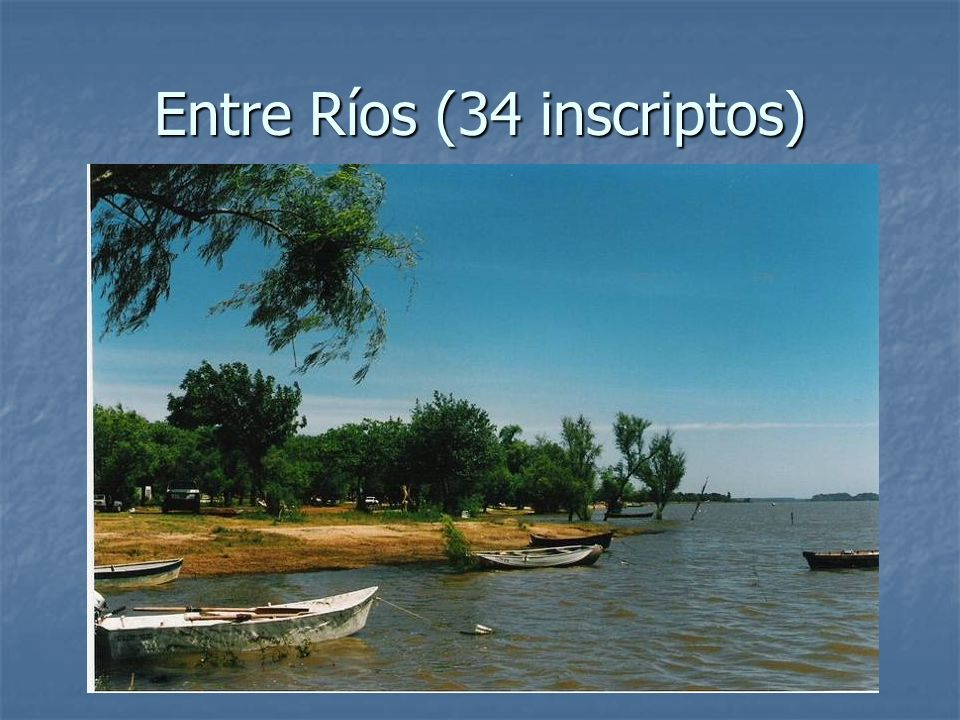 Entre Ríos (34 inscriptos)