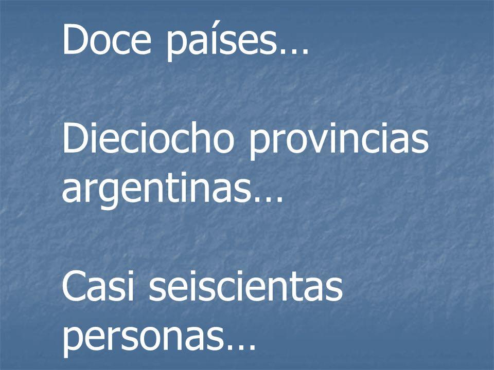 Doce países… Dieciocho provincias argentinas… Casi seiscientas personas…