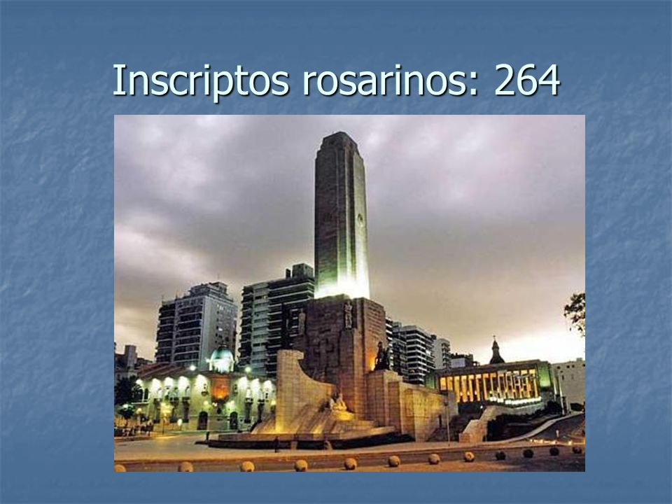 Inscriptos rosarinos: 264
