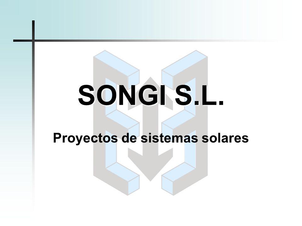 SONGI S.L. Proyectos de sistemas solares