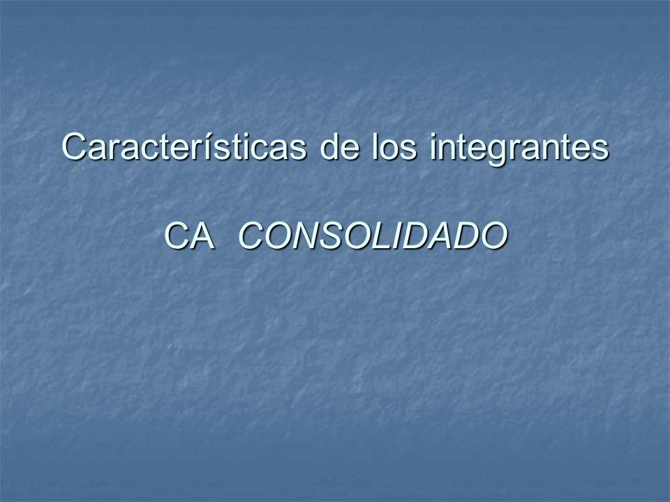 Características de los integrantes CA CONSOLIDADO