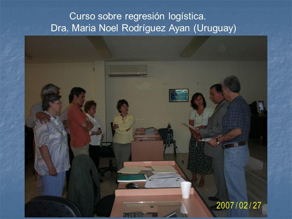 Curso sobre regresión logística. Dra. Maria Noel Rodríguez Ayan (Uruguay)