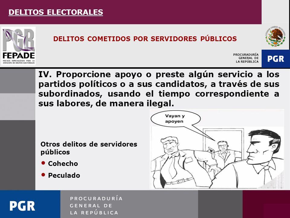 PROCURADURÍA GENERAL DE LA REPÚBLICA DELITOS COMETIDOS POR SERVIDORES PÚBLICOS III.