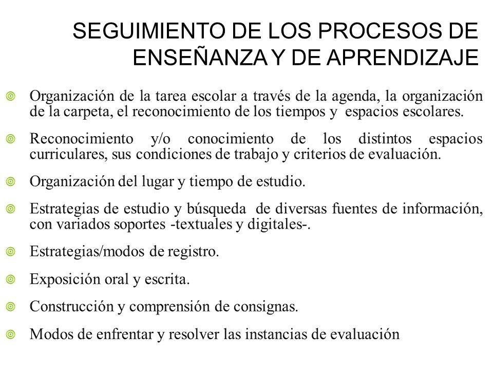 SEGUIMIENTO DE LOS PROCESOS DE ENSEÑANZA Y DE APRENDIZAJE