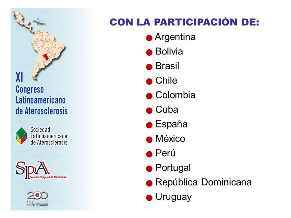 CON LA PARTICIPACIÓN DE: Argentina Bolivia Brasil Chile Colombia Cuba España México Perú Portugal República Dominicana Uruguay