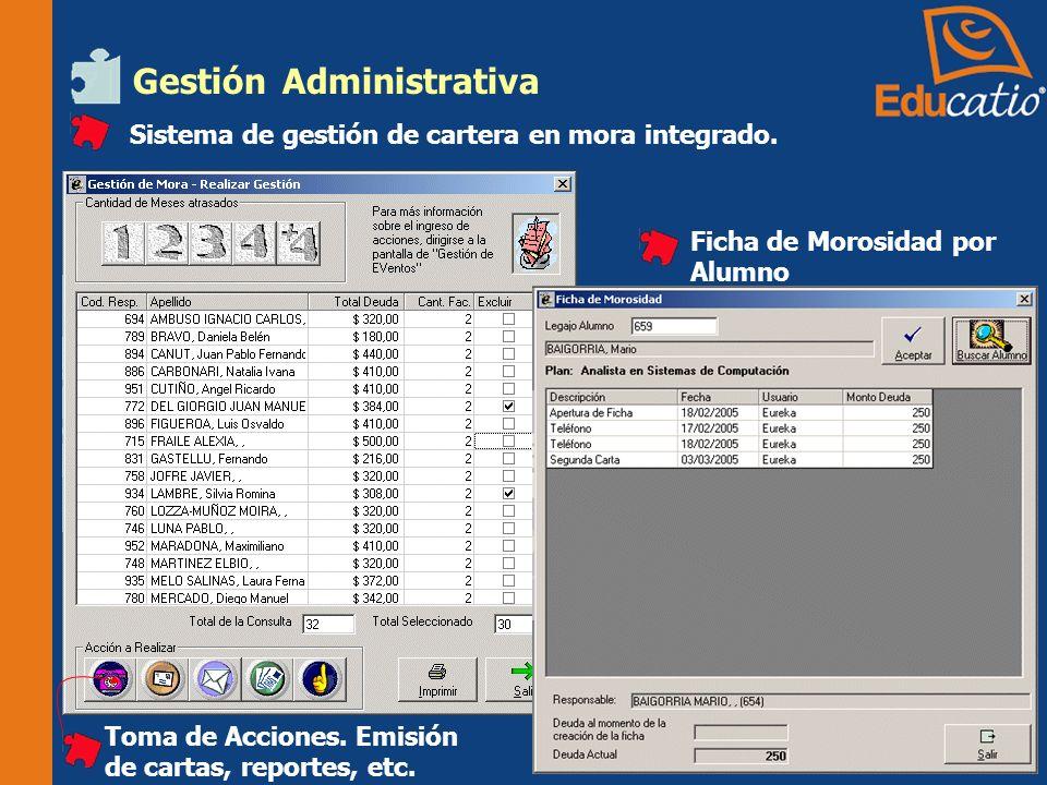 Gestión Administrativa Sistema de gestión de cartera en mora integrado.