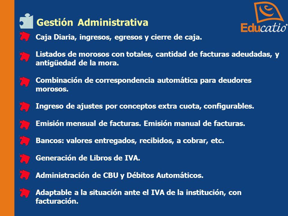 Gestión Administrativa Caja Diaria, ingresos, egresos y cierre de caja.