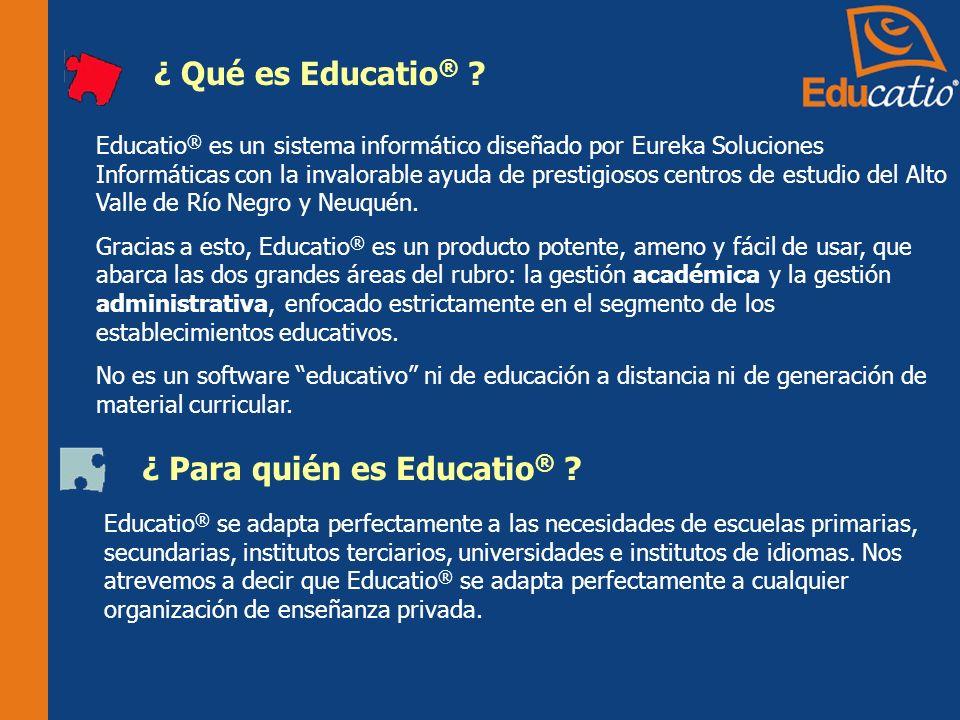 ¿ Qué es Educatio ® .
