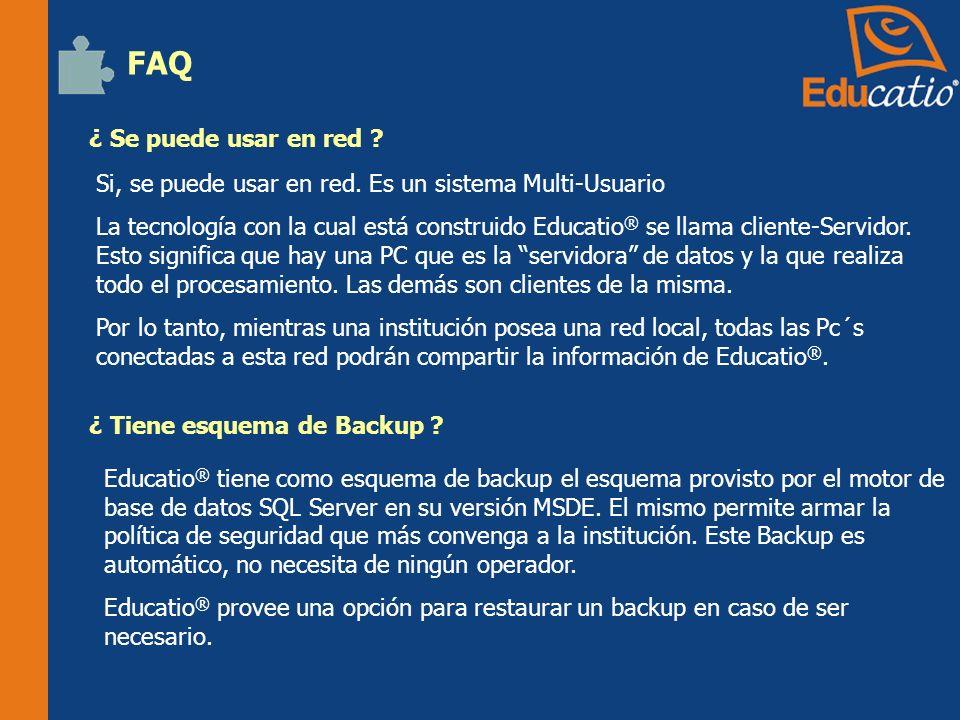 ¿ Se puede usar en red .FAQ Si, se puede usar en red.
