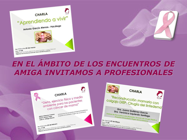 EN EL ÁMBITO DE LOS ENCUENTROS DE AMIGA INVITAMOS A PROFESIONALES