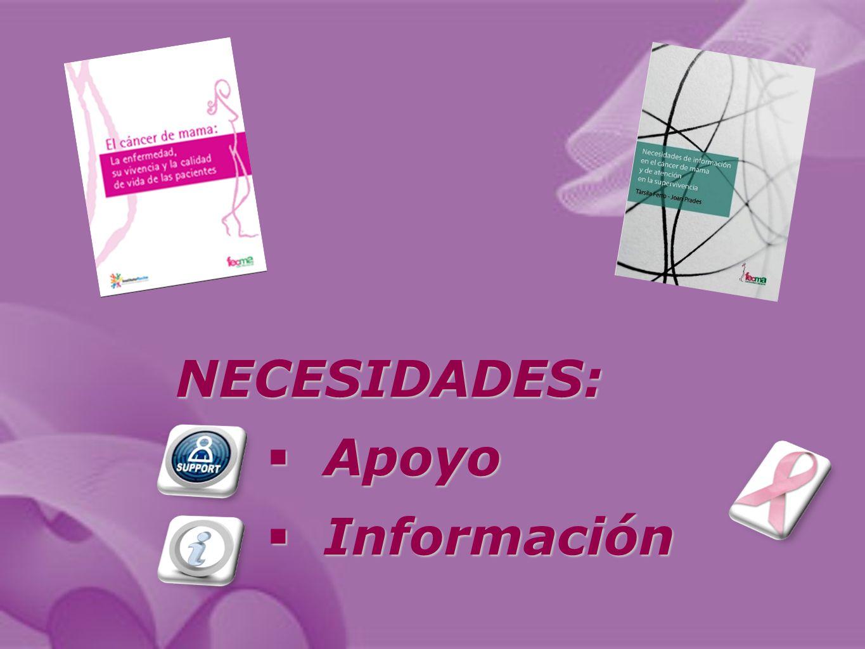 NECESIDADES: Apoyo Apoyo Información Información