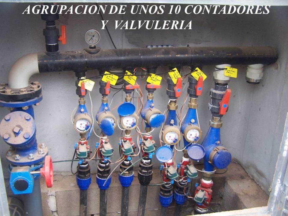AGRUPACION DE UNOS 10 CONTADORES Y VALVULERIA