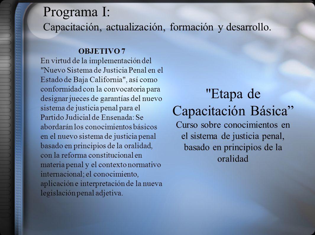 Programa II: Capacitación Administrativa.