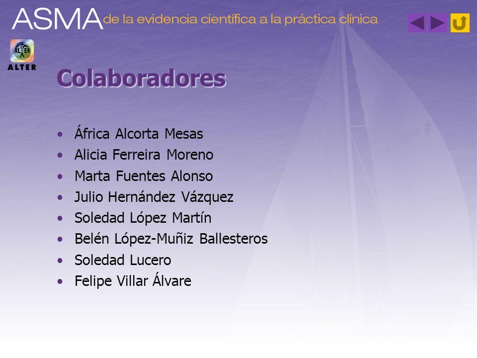 Colaboradores África Alcorta Mesas Alicia Ferreira Moreno Marta Fuentes Alonso Julio Hernández Vázquez Soledad López Martín Belén López-Muñiz Balleste