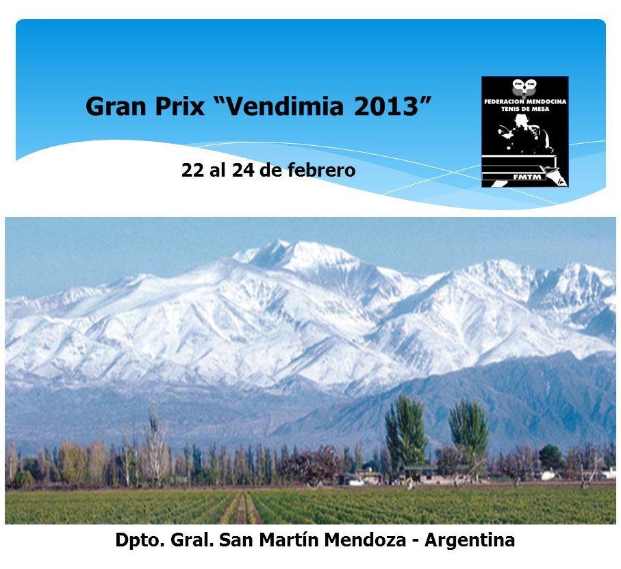 Gran Prix Vendimia 2013 22 al 24 de febrero Dpto. Gral. San Martín Mendoza - Argentina