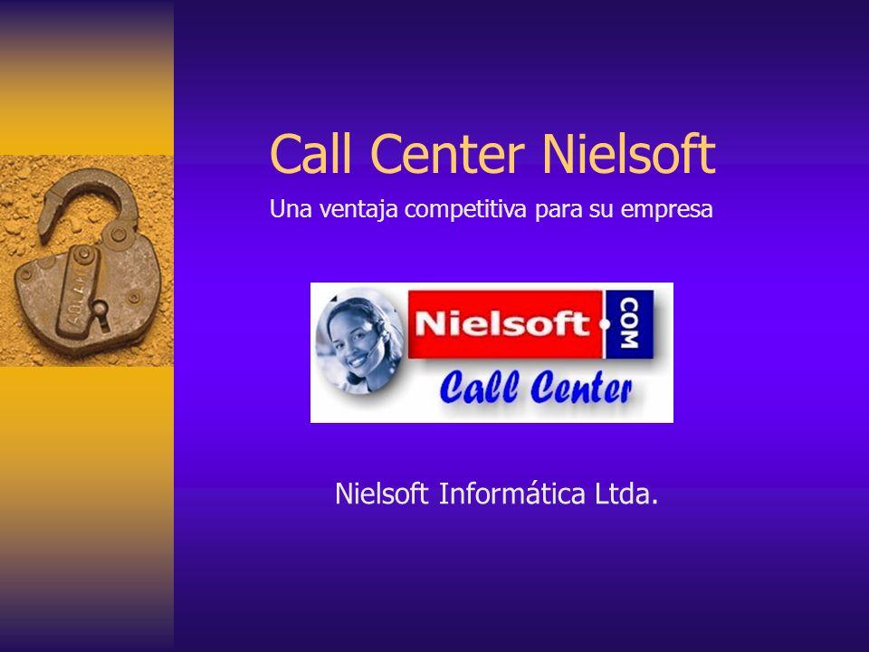 http://www.nielsoft.com/ Campañas de venta Cobranzas Estudios de mercado Promociones Encuestas y sondeos de opinión Mesas de Ayuda (Help Desks) Mantención de clientes (CRMs) Campañas de influencia Centros de Salud Para sus comunicaciones