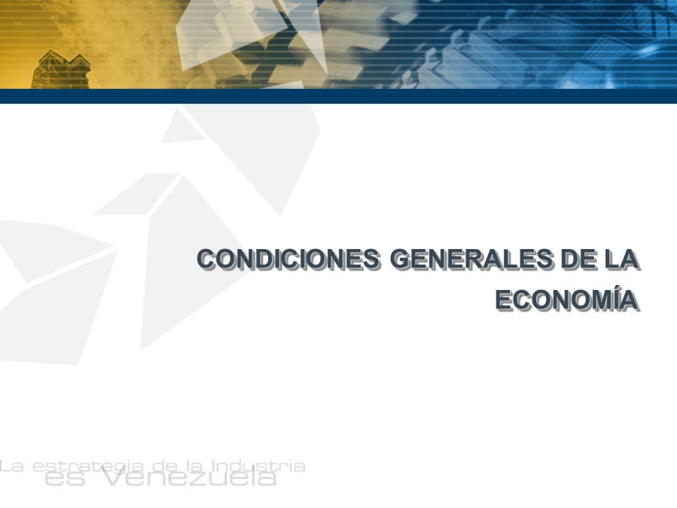 CONDICIONES GENERALES DE LA ECONOMÍA