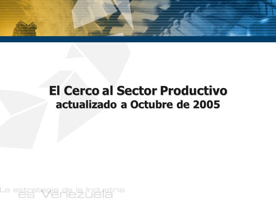 El Cerco al Sector Productivo actualizado a Octubre de 2005