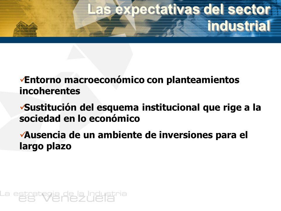 Entorno macroeconómico con planteamientos incoherentes Sustitución del esquema institucional que rige a la sociedad en lo económico Ausencia de un amb