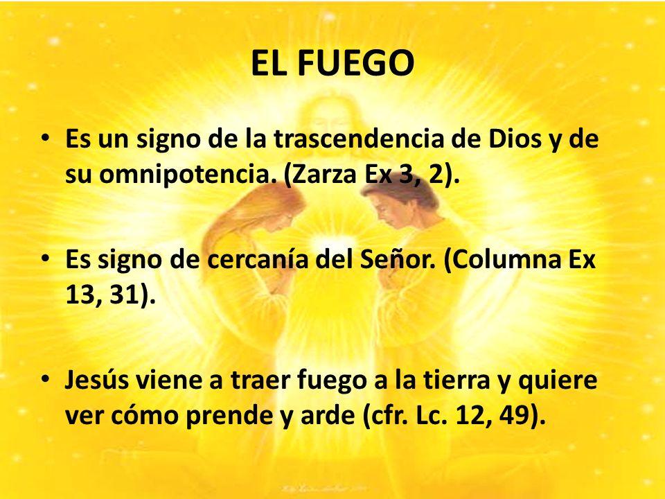 EL FUEGO Es un signo de la trascendencia de Dios y de su omnipotencia.