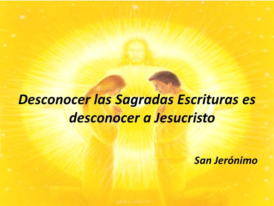 Desconocer las Sagradas Escrituras es desconocer a Jesucristo San Jerónimo
