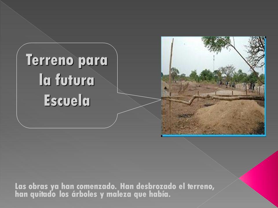 Terreno para la futura Escuela Las obras ya han comenzado.