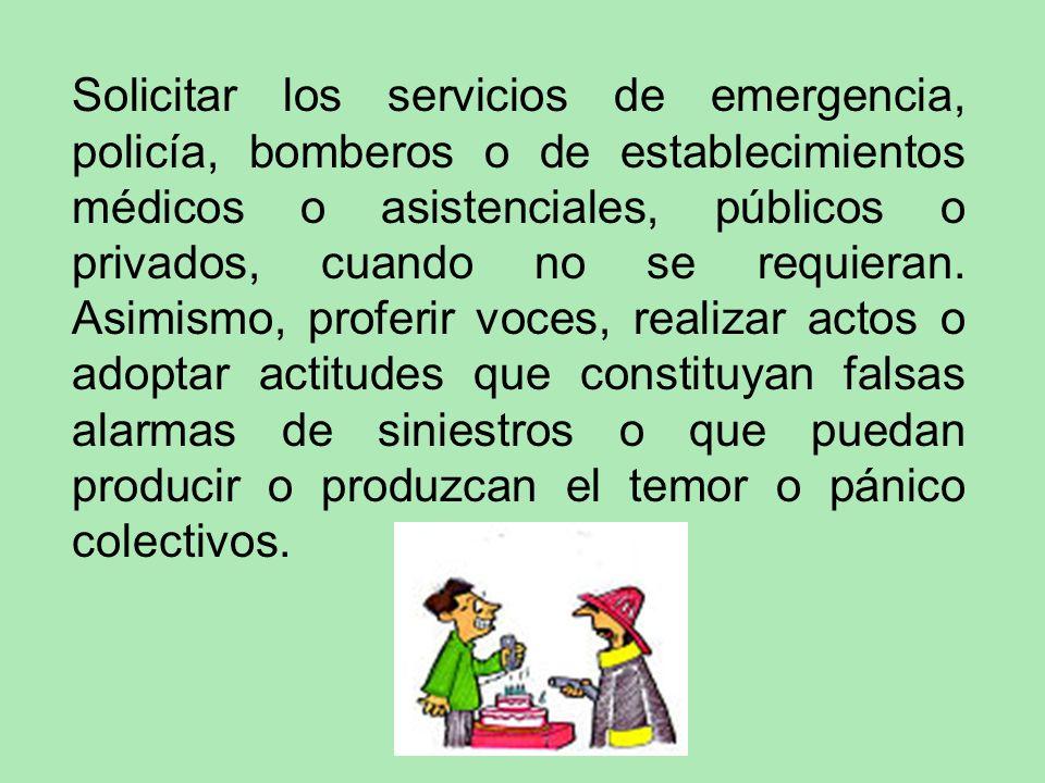 Portar, transportar o usar, sin precaución, objetos o sustancias que por su naturaleza sean peligrosos y sin observar, en su caso, las disposiciones a